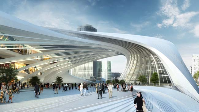 Flinders Street Station by Zaha Hadid
