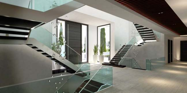 Luxurious villa with indoor and outdoor pools