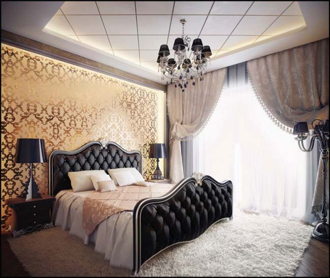 Luxury bedroom designs with traditional style