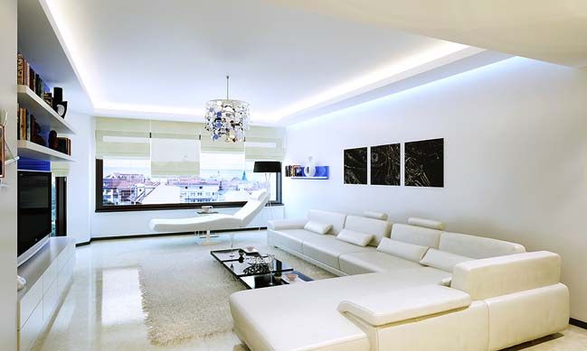 13 White Living Rooms With Modern Design Part 50