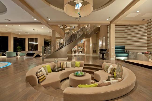 Living room designs with sunken area