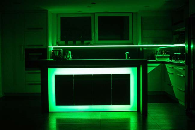 Kitchen design with amazing LED light