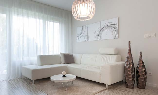 Beautiful apartment with lovely white color