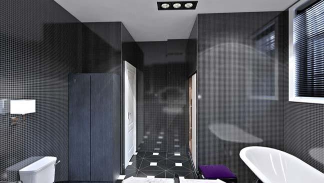 Bathroom designs with black color