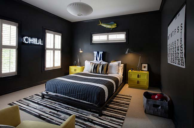 9 beautiful bedroom designs with black
