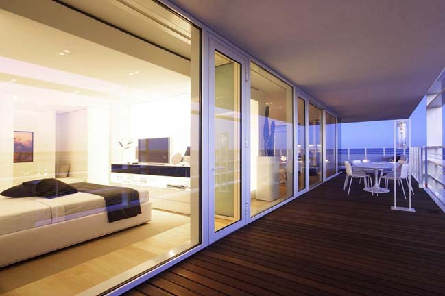 Luxury beach penthouse by JM Architecture