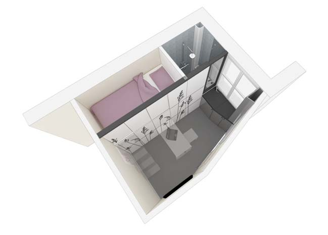 Tiny apartment 8m2