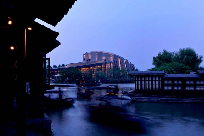 Unique architecture of Wuzhen theater in China