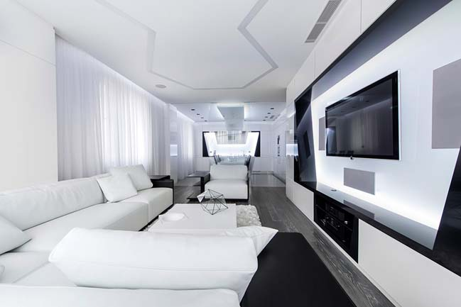 Futuristic apartment in Moscow