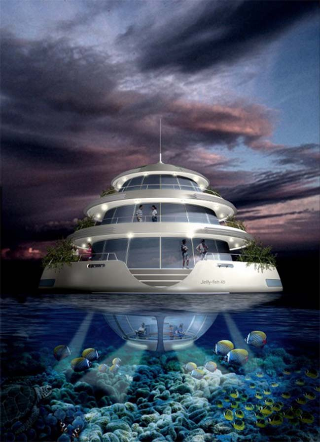 Amazing architecture of luxury floating resort in Qatar