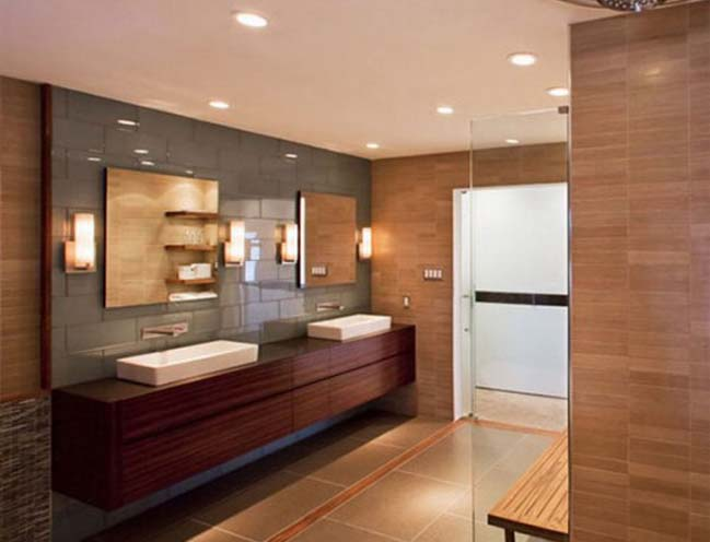12 bathroom designs with wooden furniture