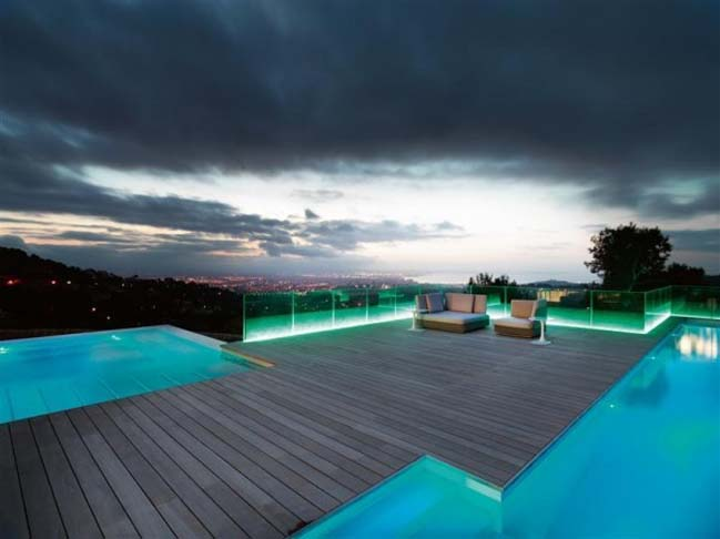 Luxury villa with amazing LED light systems