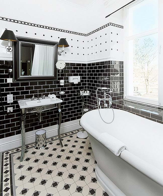 Black and white bathroom designs collection