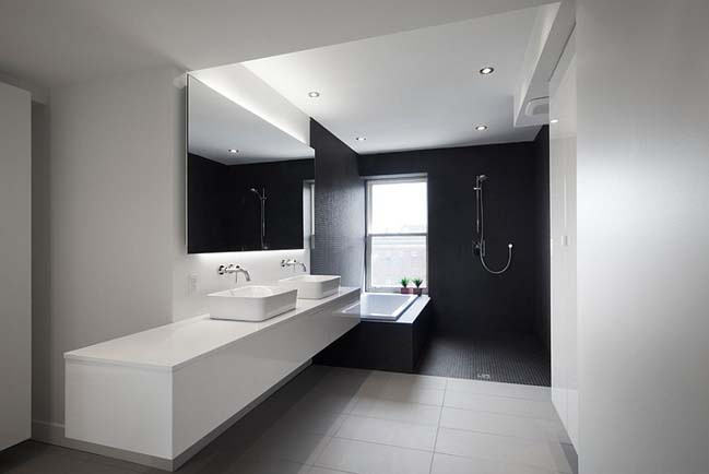 Black and white bathroom designs collection for Black white bathroom ideas