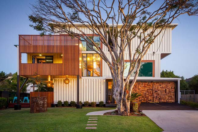 Amazing house built from 31 shipping containers