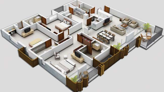17 three bedroom house floor plans