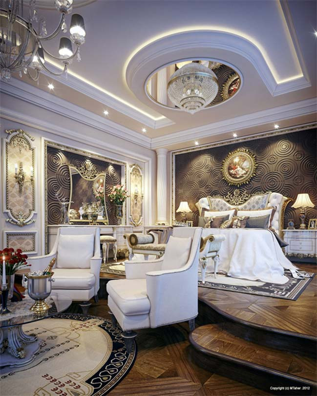 Luxurious bedroom design in Qatar
