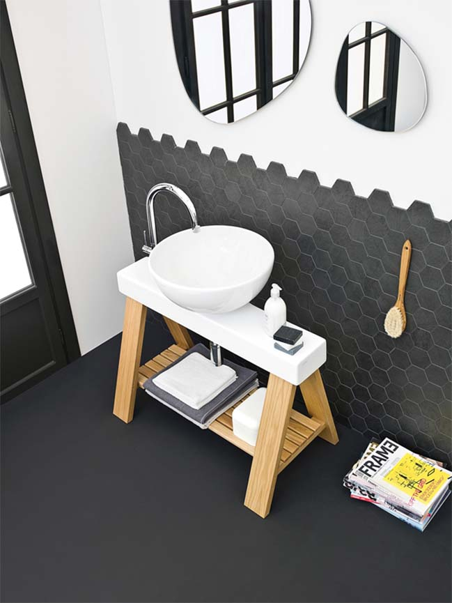 Black and white bathroom designs collection part 02