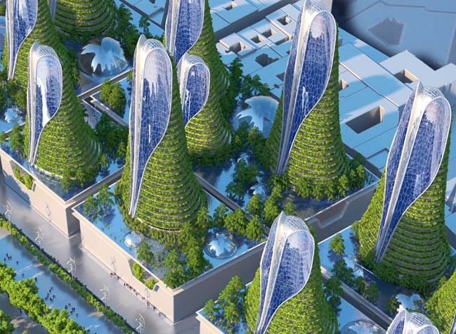 8 green and smart towers for the future of paris in 2050. Black Bedroom Furniture Sets. Home Design Ideas