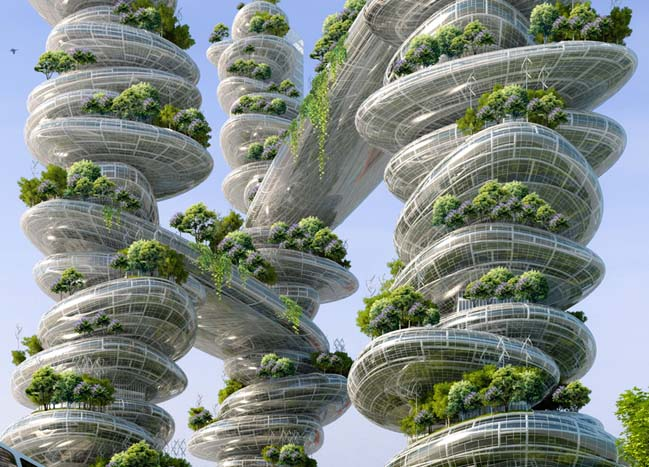 8 green and smart towers for the future of paris in 2050 for Architecture 2050