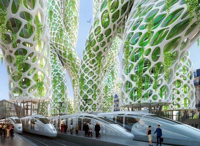 8 green and smart towers for the future of Paris in 2050