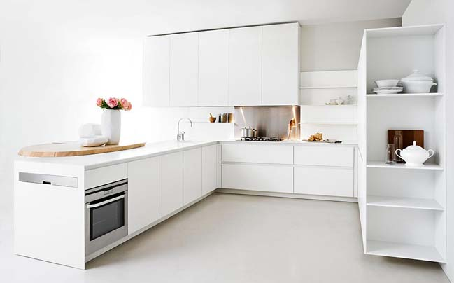 Modern kitchens with smart saving space designs - Archietechtural kitchen design space saving ...