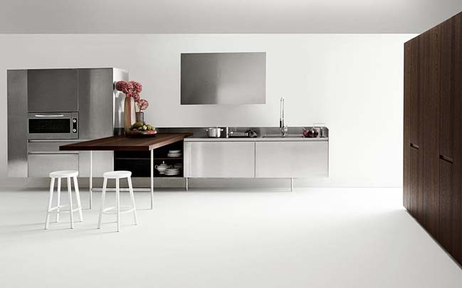 modern kitchens with smart saving space designs