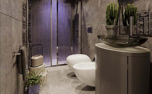 cool small bathroom design by jordan pierguidi