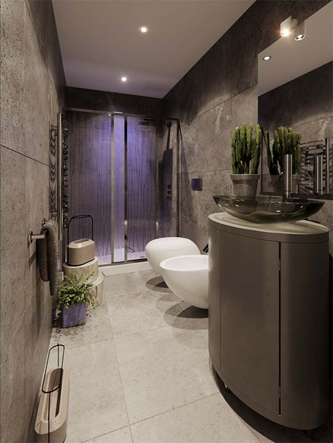 Cool small bathroom design by jordan pierguidi for Bathroom designs 3m x 2m