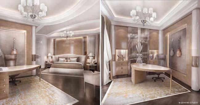 Elegant luxury penthouse in France