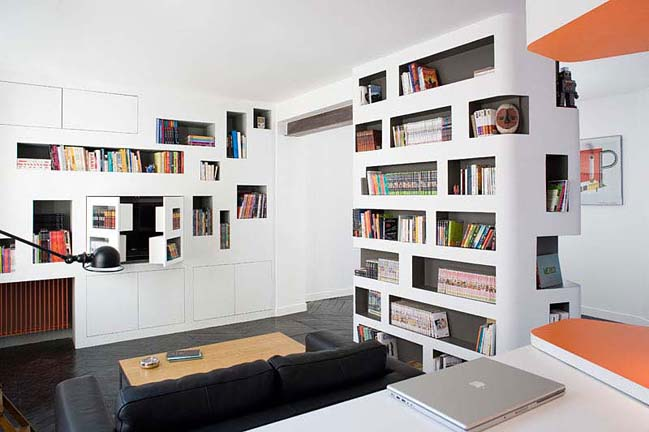 Front and Back apartment by H20 Architectes