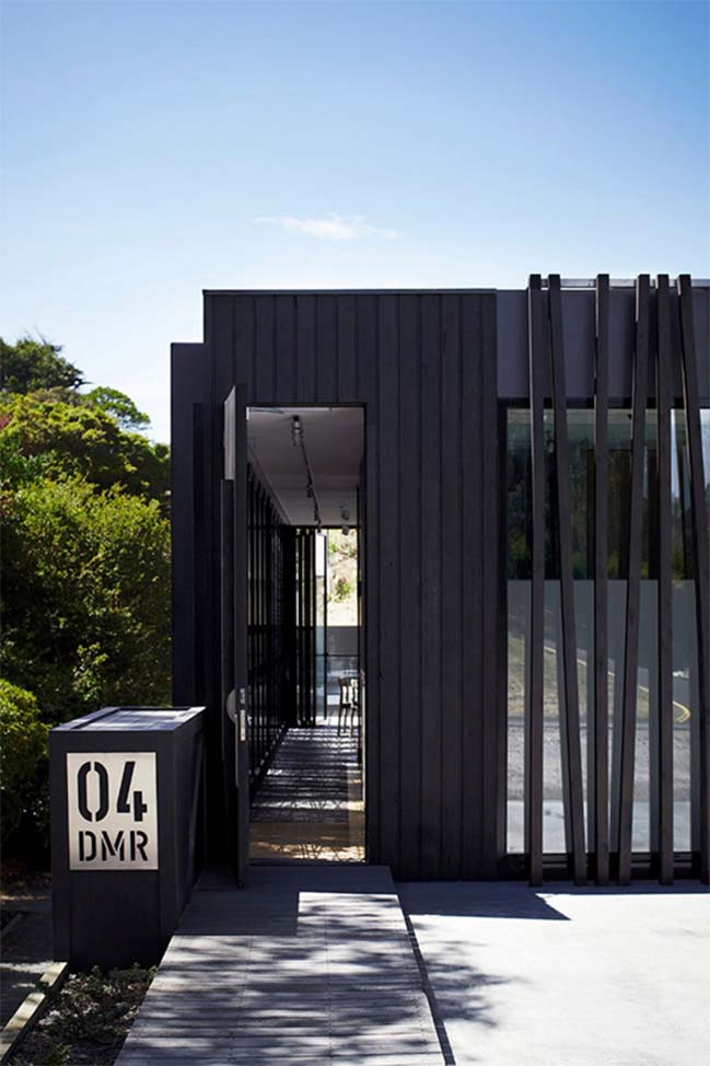 Black modern house in Australia