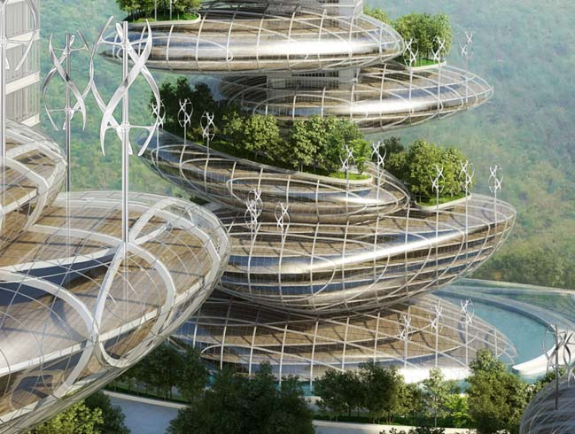 Asian Cairns: futuristic architecture by Vincent Callebaut Architectures
