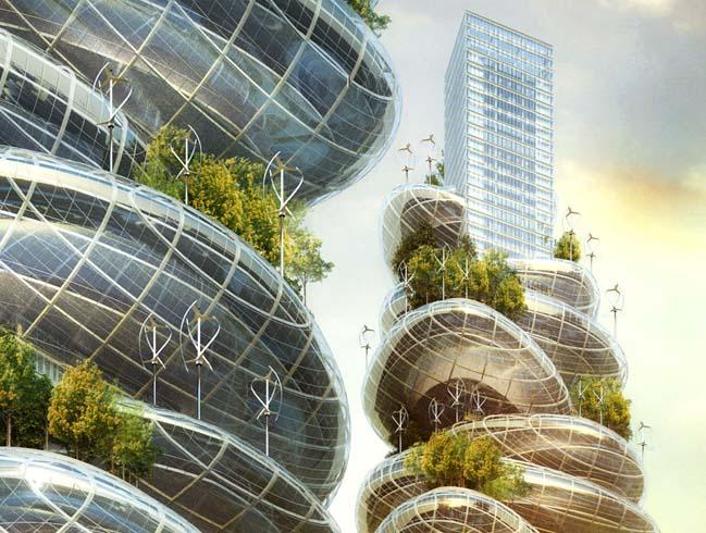 Asian Cairns: futuristic architecture by Vincent Callebaut Architectures