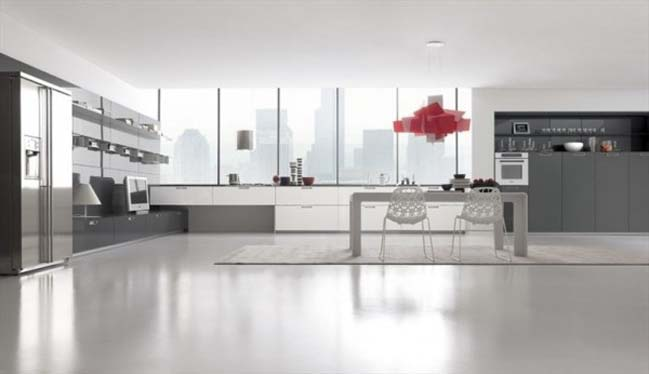 Minimalist kitchen designs by comprex for Minimalist kitchen design