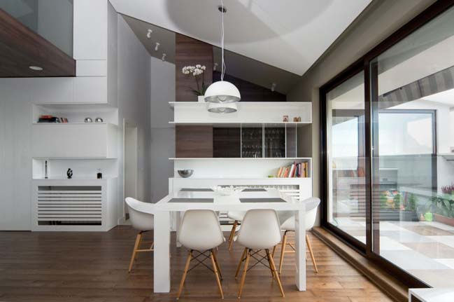 Modern apartment with white interior