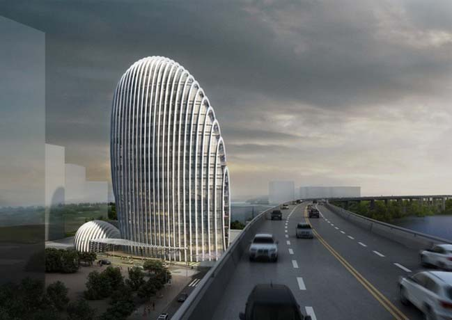 Taipei Nangang Office Tower by Aedas
