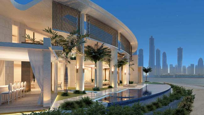 Ultra luxury villa in uae palm jumeirah dubai for Modern house uae
