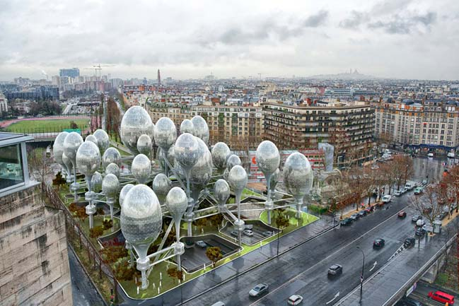 Futuristic architecture for reinvent Paris initiative