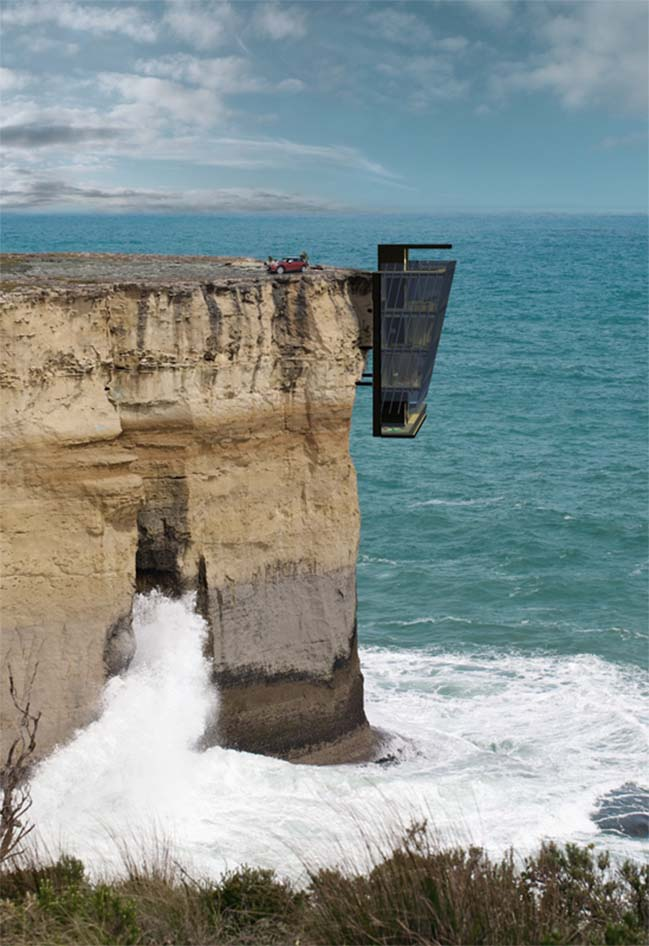 Cling to cliff vacation house in Australia