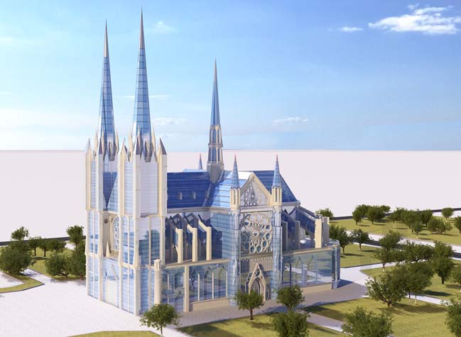 21st Century Notre-Dame Paris by Vasily Klyukin