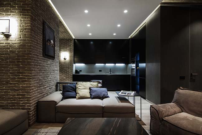Brick apartment in Kiev