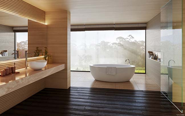 Modern Natural Bathroom Designs : Modern bathroom design ideas by valkyrie studio