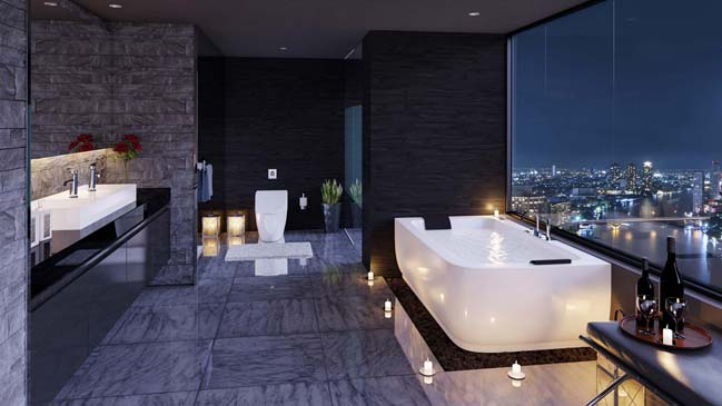 Modern bathroom design ideas by valkyrie studio for Contemporary bathrooms 2015