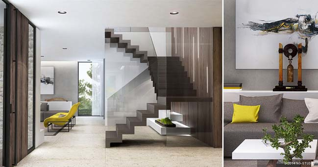 Colorful minimalism villa by NG Studio
