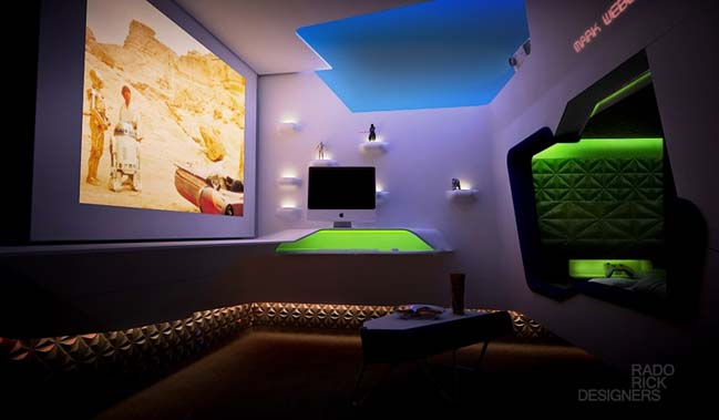 Star Wars bedroom design by Rado Rick Designers