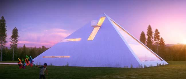 Unusual Modern Pyramid House by Juan Carlos Ramos