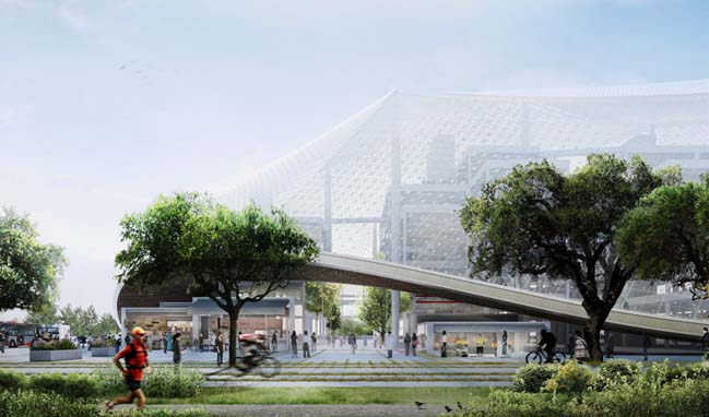 Amazing structure of new Google headquarters in California
