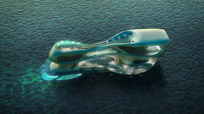 Futuristic architecture of Marine Research Center in Indonesia