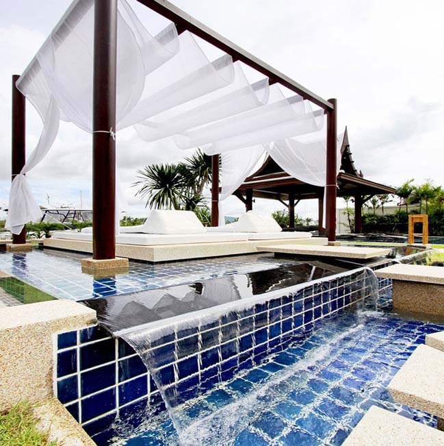 Luxury villa with private yacht berth in Thailand